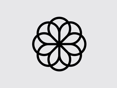 Flower simple geometric shapes