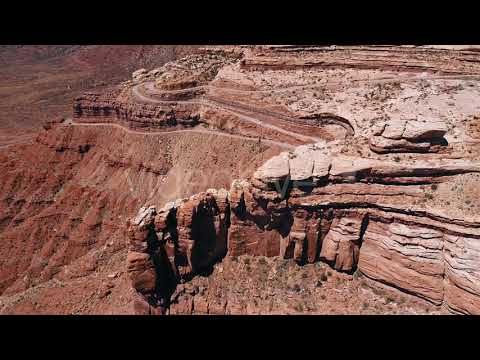 Red Cliff Aerial Mojave Desert USA (Stock Footage)