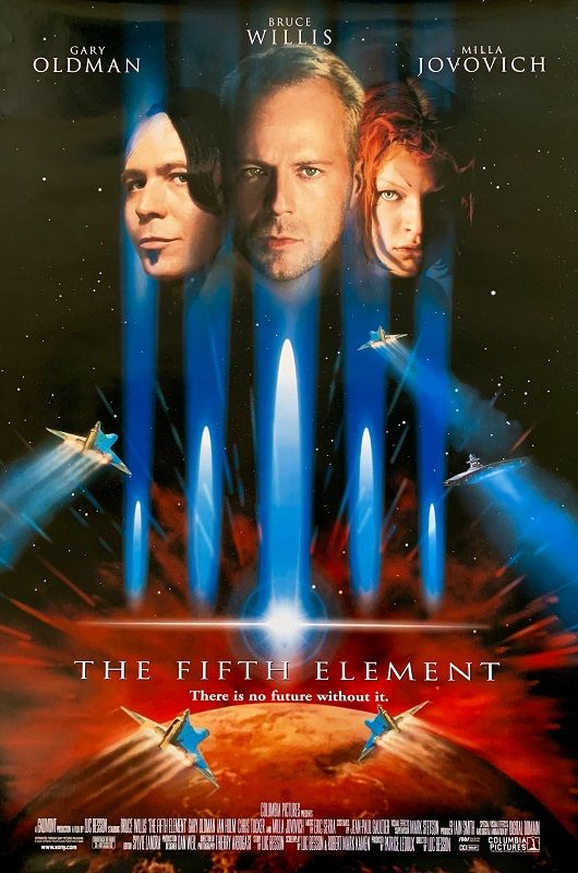 The Fifth Element (Film) The Fifth Element Movie, Famous Movie Posters, Man In Black, Famous Directors, Entertaining Movies, Beloved Film, Eminem Photos, Film Poster Design, Cinema Film