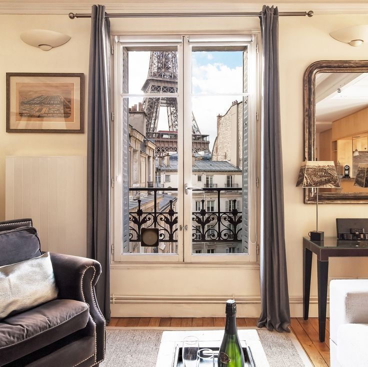 The Eiffel Tower is so close to our Romanée apartment rental! It feels as if you can reach out and touch it! | Paris Perfect