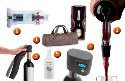 Calling all #wine lovers! You've got to see these amazing & useful gadgets - like a bottle tote, an automatic opener and more!