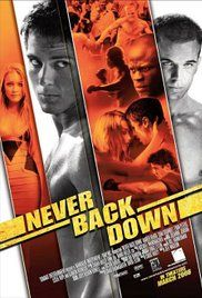Movie Never Back Down. A frustrated and conflicted teenager arrives at a new high school to discover an underground fight club and meet a classmate who begins to coerce him into fighting.