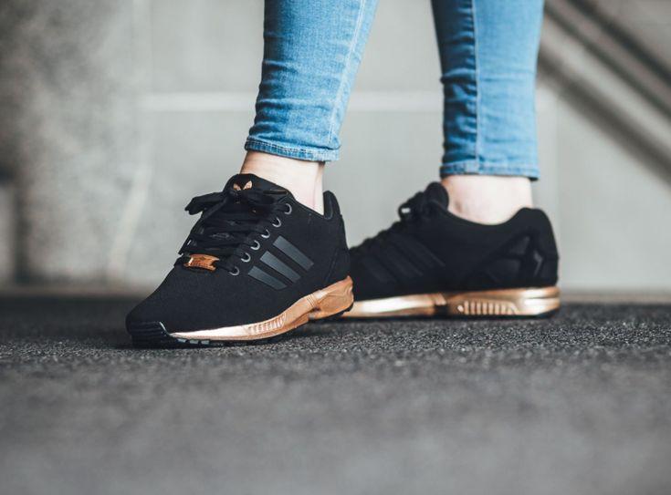 Adidas Flux Noir Et Gold