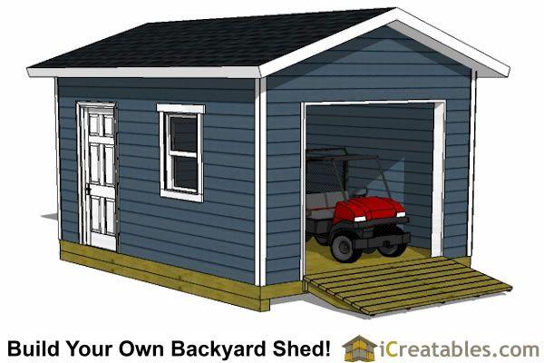 12x16 garage door shed plans