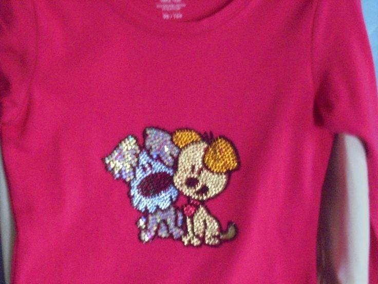 Roze shirt met Woezel en Pip door creanietje op Etsy