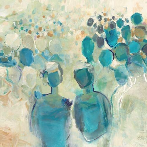 """Reception"" by Leftbank Art, 50x50in Glicee On Canvas Print, $479 via HighFashionHome.Com"