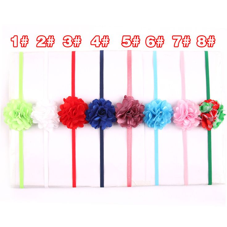 Chiffon Flower hairband Hair Accessories Baby Girls Lace Headband Baby  Infant girl Hair Weave band childern hair clips (19)