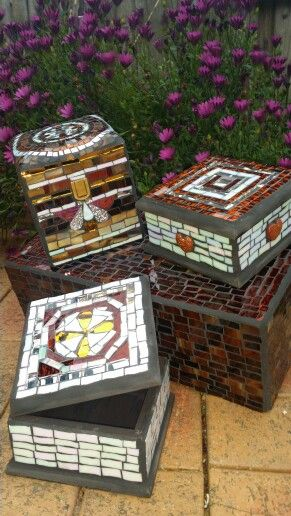 Syria inspired mosaic boxes