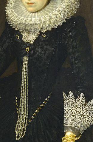 Portrait of a Lady (detail) Anglo-Dutch School, circa 1615