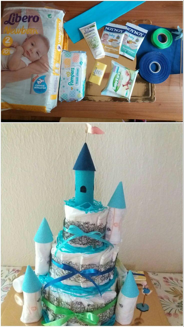 Diaper cake castle