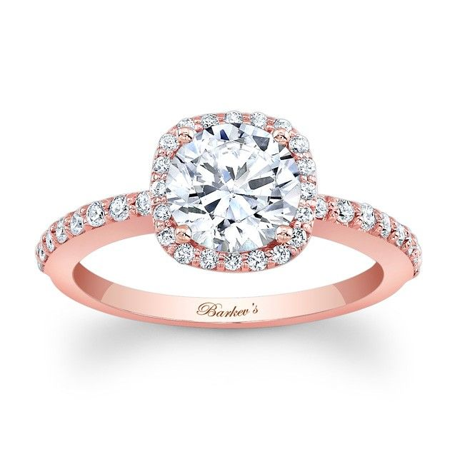 Stunning This is the Engagement ring of my dreams It us Rose Gold Halo Engagement Ring with micro pave diamonds surrounding the center stone