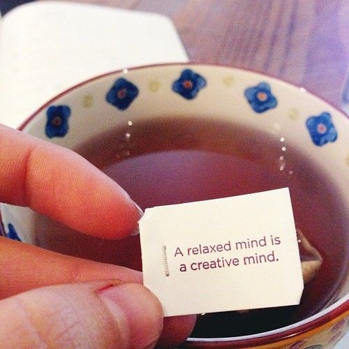 ahhhh yes a relaxed mind is a creative mind ...