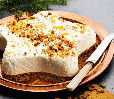 Recept: Fryst cheesecake med apelsin och pepparkaka