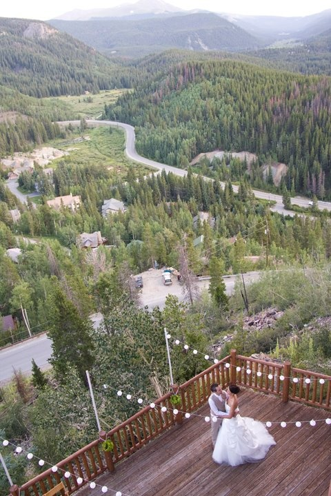 A Breckenridge Wedding; Photo by Diana Sabreen Photography Our duet loved playing on this deck!