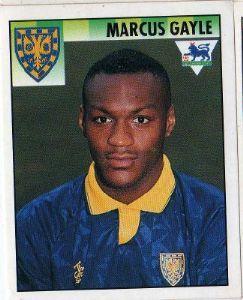 WIMBLEDON - Marcus Gayle #520 MERLIN'S English Premier League 1995 Football Sticker