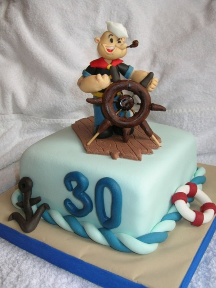 Popeye The Sailor  Popeye The Sailor cake for the future sailor