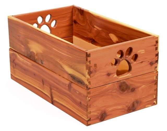 Pet Toy Box solid hardwood decorative craftsman dog storage container bin-choice