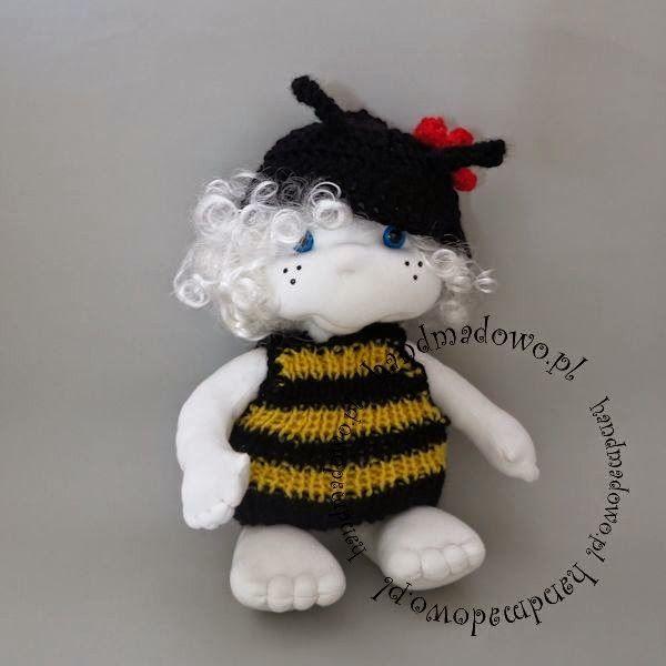 HANDMADOWO: Pszczółka Franio  #handmade #doll #anioł #aniołek #angel #szyte #pszczoła #przebranie