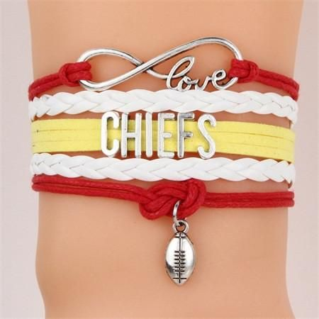 NFL Kansas City Chiefs Football Team Bracelet – Best Funny Store