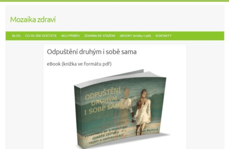 Jana Bejčková a její ebook ZDARMA:   Odpuštění druhým i sobě sama