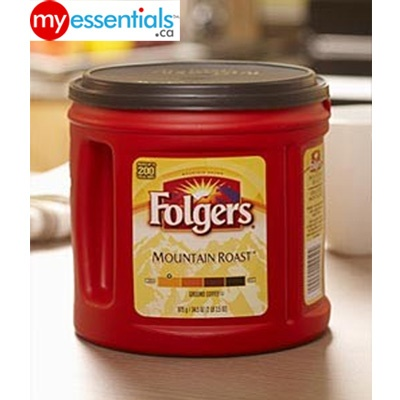 Hankering for a rich & strong coffee to wake you right up?  You know you need Folgers Mountain Roast Blend right?    MyEssentials.ca will bring it to YOU!
