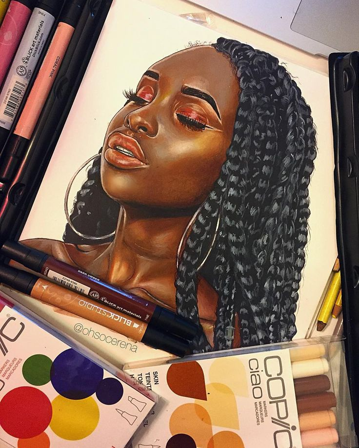 16-year-old illustrator Cerena Robertson's work is brilliant beyond her years - AFROPUNK  https://www.instagram.com/ohsocerena/