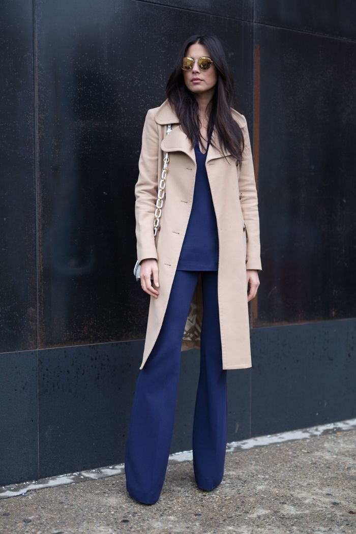 Model Jessica Gomes Wearing A Winter Casual Street Style Look