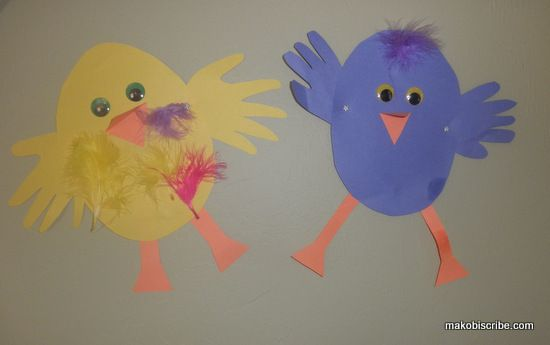 One more cute chicken craft for easter