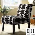 ETHAN HOME Decor Black and Light Grey Lounge Chair | Overstock.com