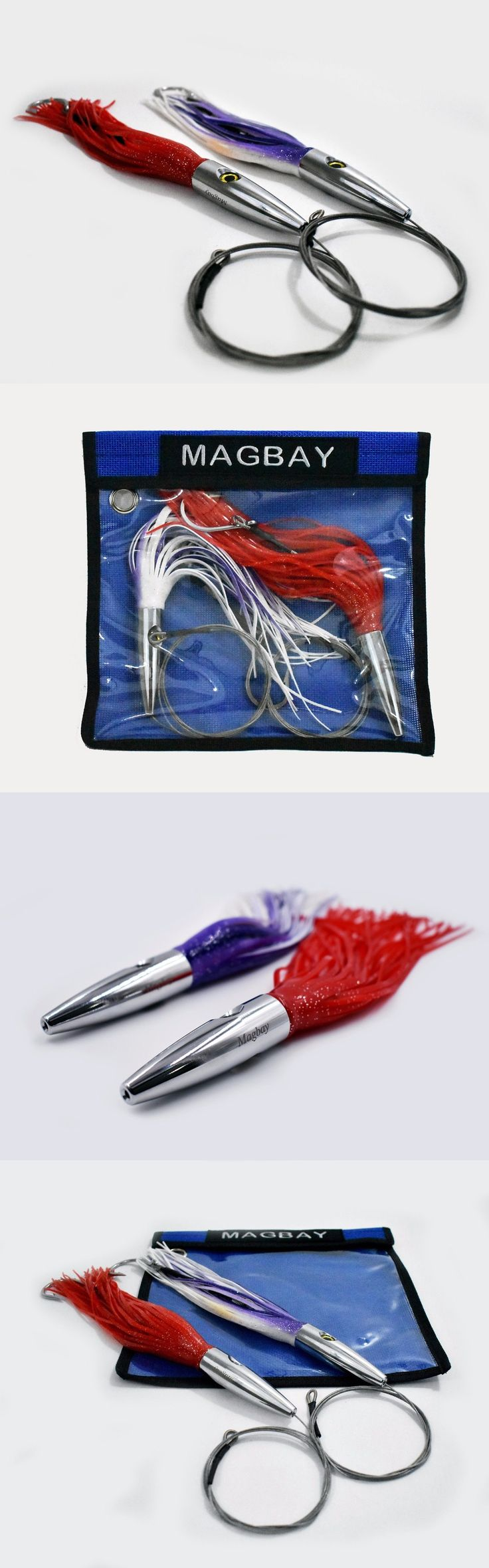 Saltwater Lures 36153: 2 Pack High Speed Skirted Wahoo And Tuna Lures Rigged 6 Ft 150 Lbs Leader + Bag -> BUY IT NOW ONLY: $44.95 on eBay!