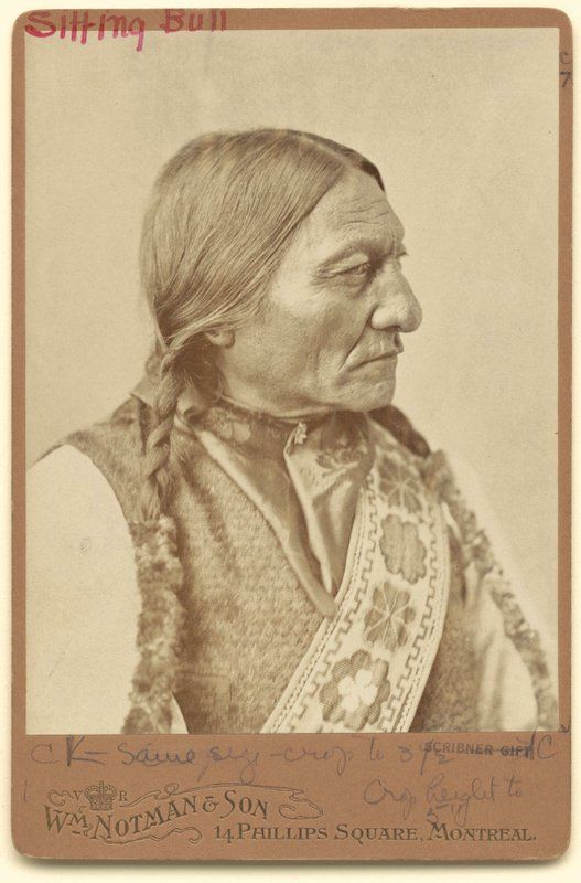 Sitting Bull, the feared Hunkpapa Lakota chief.