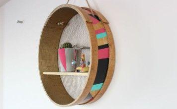 DIY: Pratik ve Renkli Elek Raf Yapımı