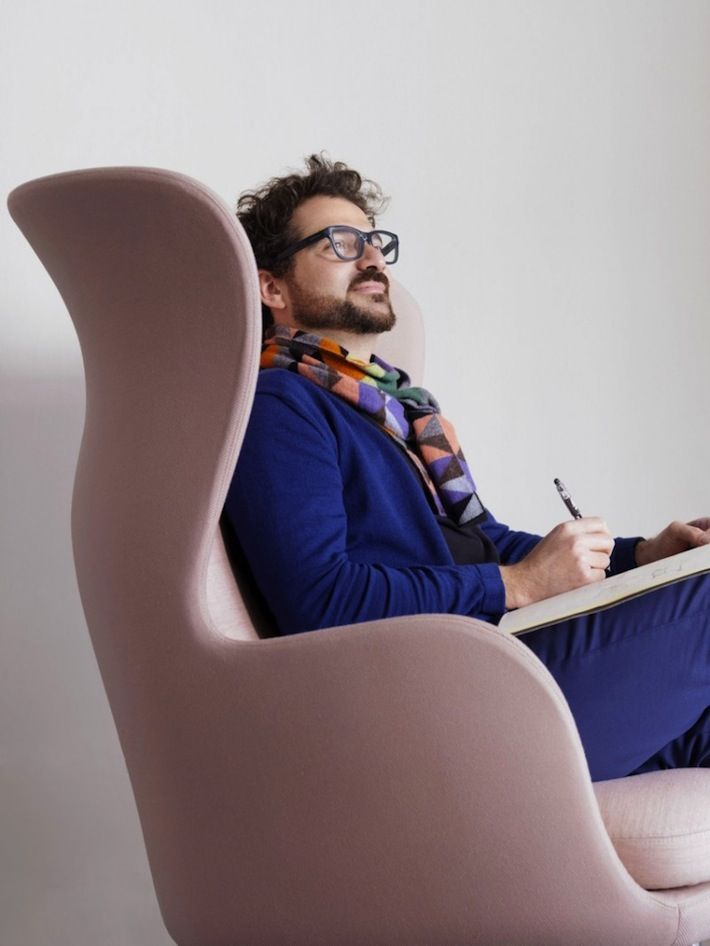 Designer Jaime Hayon Sitting In His Ro Chair For Fritz Hansen. Photo  Courtesy Of The Republic Of Fritz Hansen. | Product Design | Pinterest |  Spanish, ...