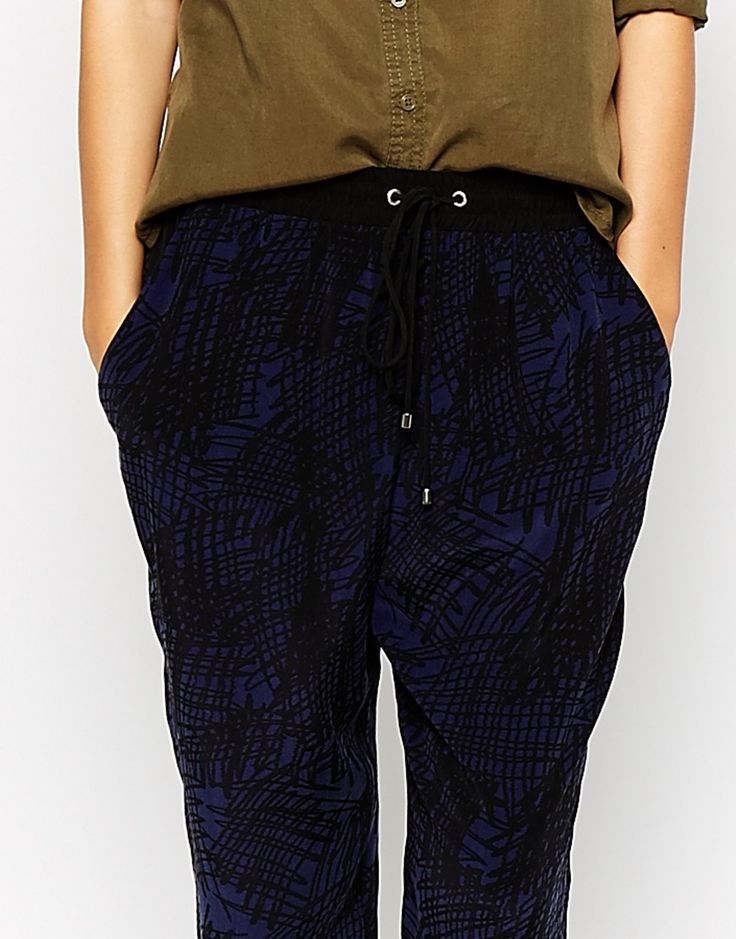 Image 3 ofWhistles Trousers in Scribble Print