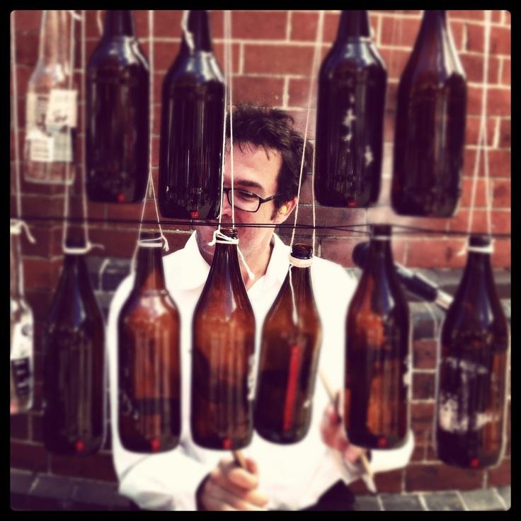 Beer bottle drums