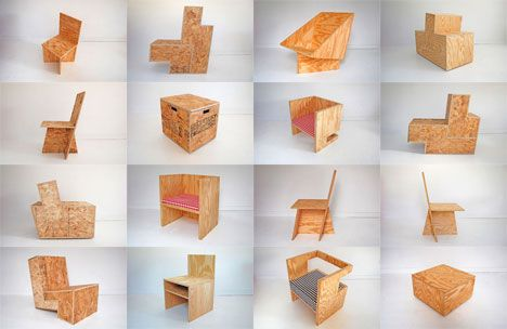 Plain is Best: ROLU's series of OSB and Plywood Chairs