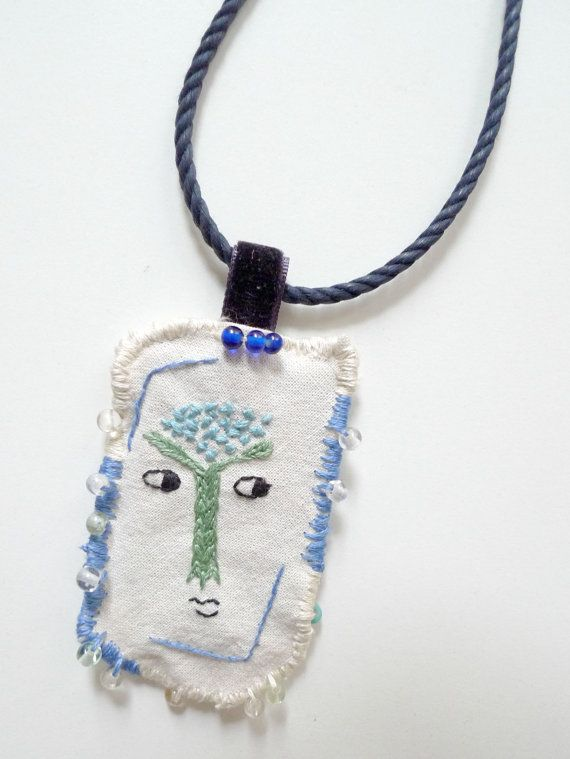As This Tree Grows // Wearable Art // Embroidered by Karakoncolos, $25.00