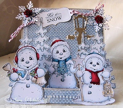 All the snoowie snowmen, So Jolly Collection, Magnolia stamps