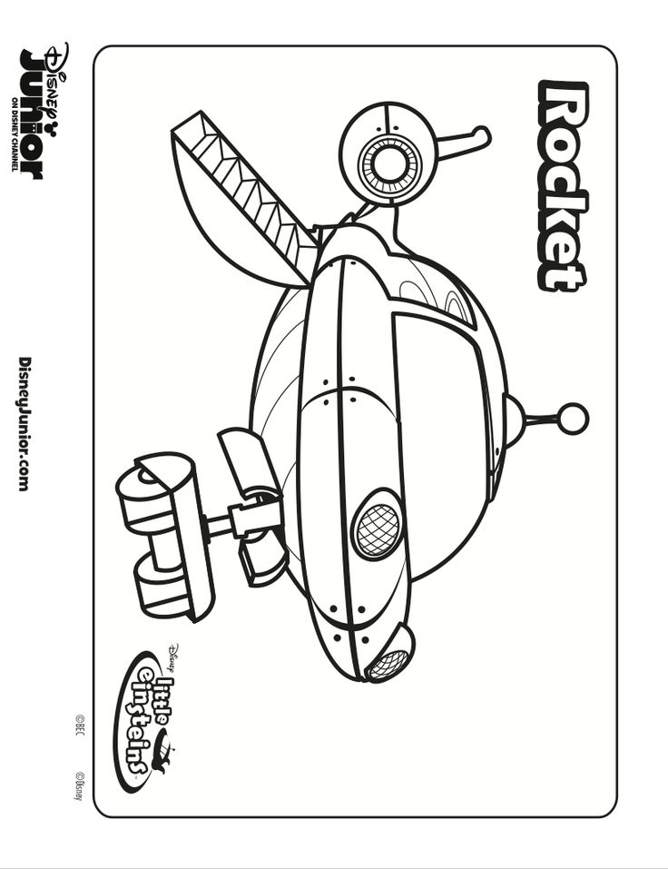 free download little einstein's coloring book pages for