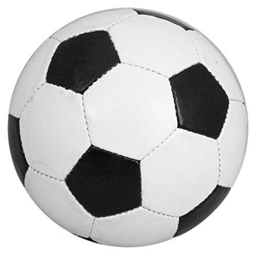 Carousel Toys Ballon de football en cuir Taille traditionnelle 5 Noir/blanc