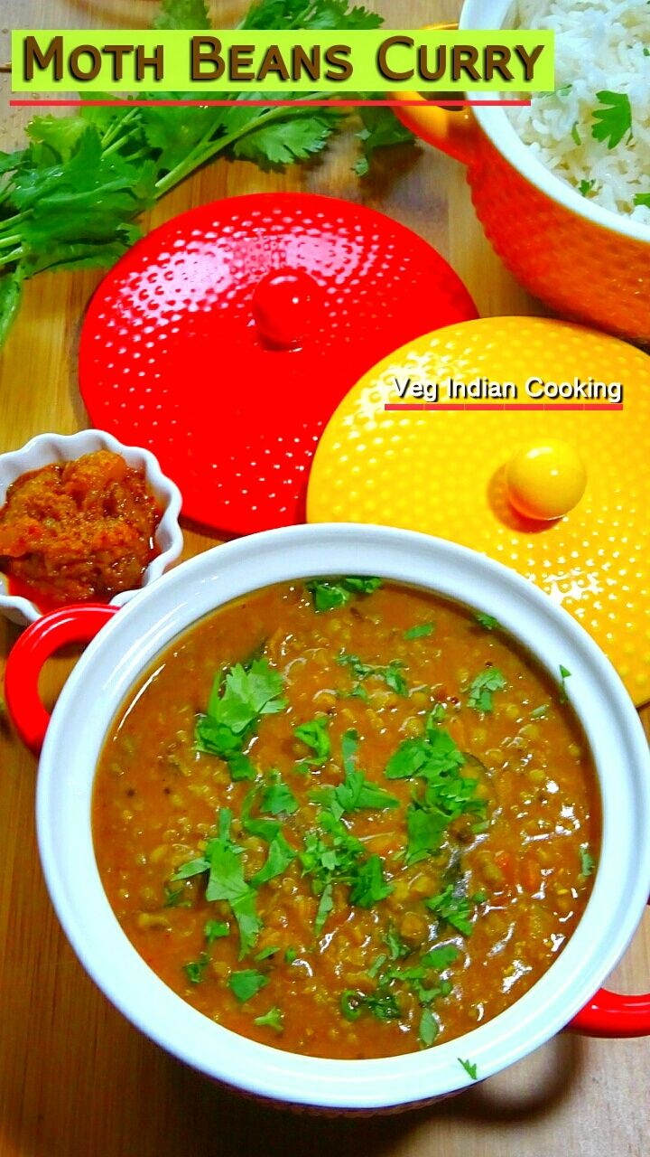Moth Beans Curry - Matki Tadka Dal   My today's post is protein rich, healthy, delicious, easy to make and very much satisfying moth beans recipe. Sharing recipe of moth beans tadka dal with a stepwise pictorial guide    #mothbeans #turkishbean #indianrecipes #indianfood #indiancuisine #foodblogger #recipe #easyrecipe