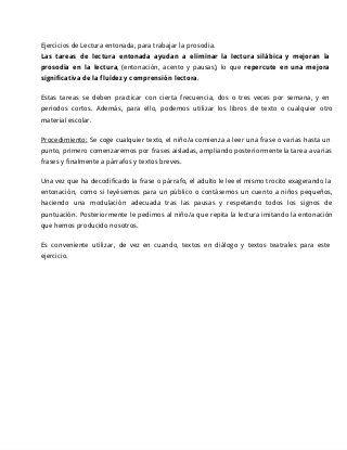 EJERCICIOS PARA MEJORAR EL NIVEL LECTOR EN LA DISLEXIA