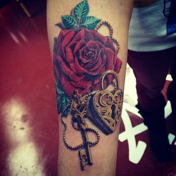 156 Stylish Lock And Key Tattoos And Their Meanings cool  Check more at http://fabulousdesign.net/key-lock-tattoos-meanings/