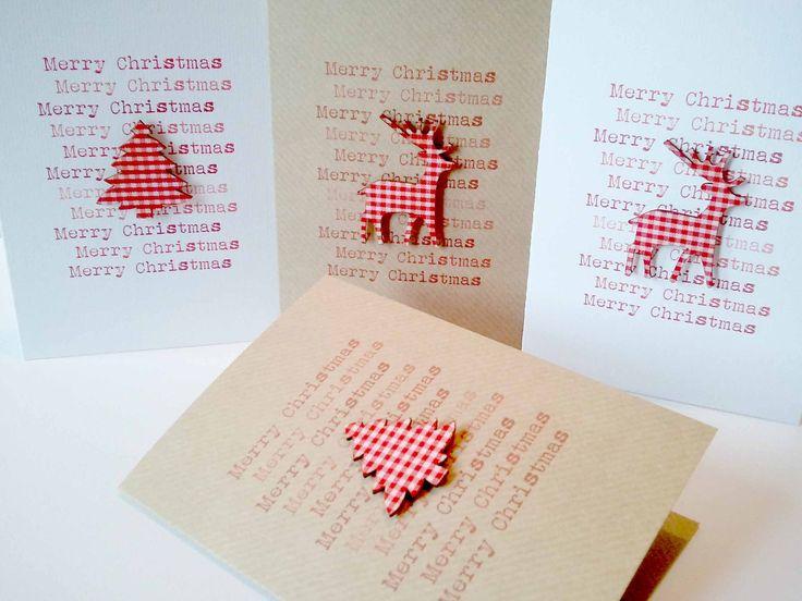Set of 4 Handmade Christmas Cards. £8.00, via Etsy.