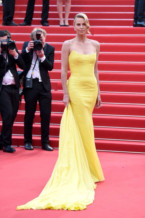 Charlize Theron in Christian Dior Couture and Chopard jewels.
