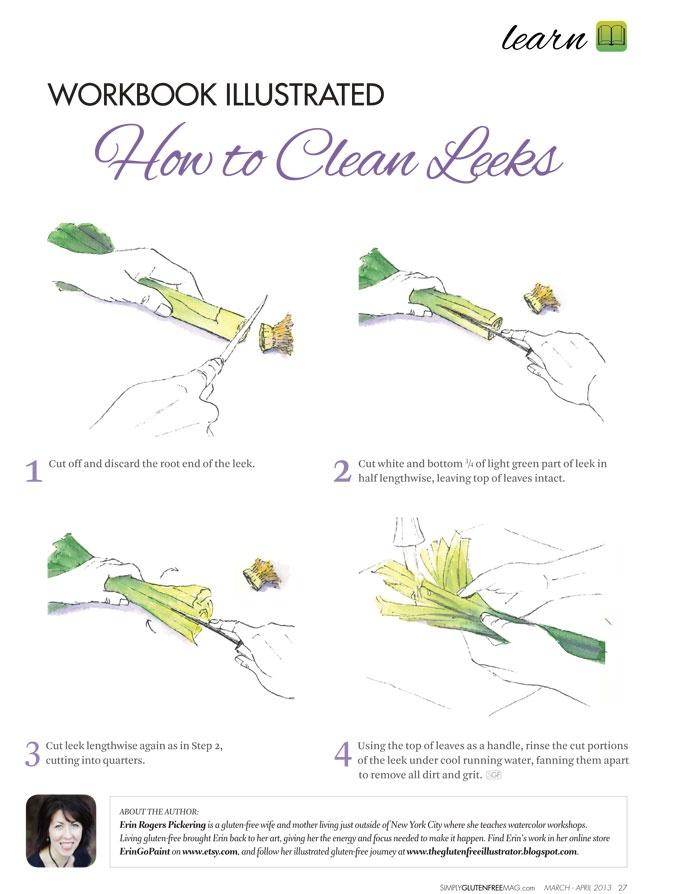 cara bersihkan sayur leek dengan betul