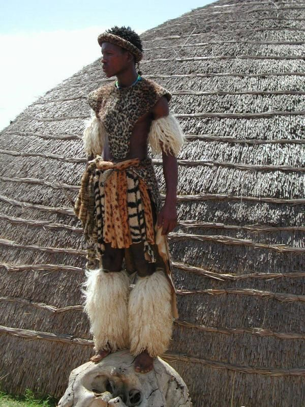 "This is a picture of a Zulu in a tribal Costume. I chose it because  believe it does a good job representing the cultural differences found in South Africa.  ""For they are in the language that was called Afrikaans, a language that he had never yet heard spoken."""
