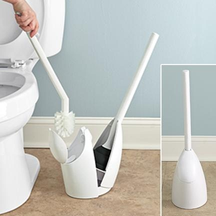 FreshFinds.com: Your Home   Closet & Storage   Toilet Brush and Plunger Set with Holder  ME