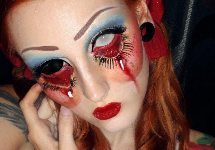 13 Increíbles Maquillajes de muñeca diabólica para Halloween