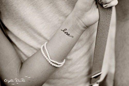cute girl wrist tattoos